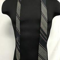 Yves Saint Laurent Mens Black Neck Tie Photo