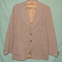 Yves Saint Laurent Men's Brown Tan Elbow Patch Wool Tweed Blazer Sport Coat 40 Photo