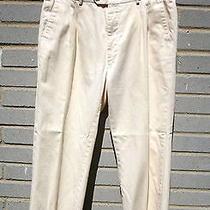 Yves Saint Laurent Men's Cotton Light Yellow Cropped Pants Sz 36 Photo