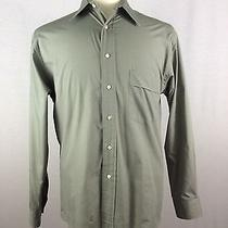 Yves Saint Laurent Men's Grey Long-Sleeve Casual Shirt Sz 15 - 32 33 Photo