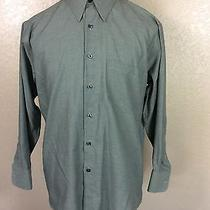 Yves Saint Laurent Men's  Polyester Blend L/s Button Down Shirt - 16  (32-33) L Photo