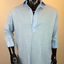 Yves Saint Laurent Men's Sky Blue Cotton Work Shirt -Incredible Photo