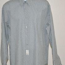Yves Saint Laurent Mens French Cufflong Sleeve Striped Shirt Size 16 1/2 34-35 Photo