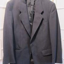 Yves Saint Laurent Mens Navy Blue 2 Bt Wool Blazer Jacket Sport Coat Euc Photo