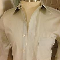 Yves Saint Laurent Mens Shirt Beige Size Xl 17 34-35 Non Smoke Photo