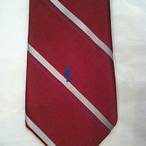 Yves Saint Laurent Mens Tie Red Striped Photo