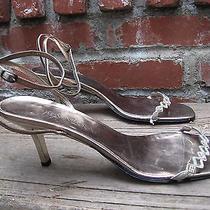Yves Saint Laurent Metallic Leather Jeweled 3