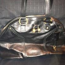 Yves Saint Laurent Muse Black Leather Tote Photo