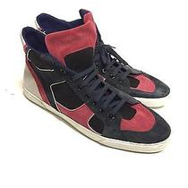 Yves Saint Laurent Navy High Top Sneaker Shoes Ysl Size 45 Sz Us 12 Authentic Photo