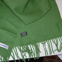 Yves Saint Laurent Nwt Scarf  100%Lana Wool Green. Italy Photo