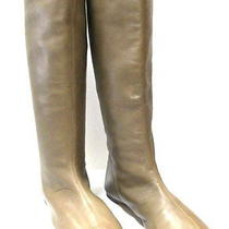 Yves Saint Laurent Olive Soft Leather Seamless Boots Size 39.5 Photo