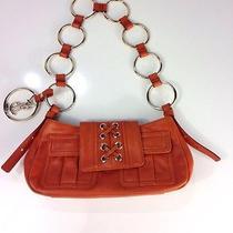 Yves Saint Laurent Orange Vintage Hobo Handbag Ring Chain Strap Rare Euc Photo