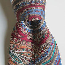 Yves Saint Laurent Paris Colourful Paisley Print Silk/soie Tie Photo