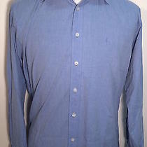 Yves Saint Laurent Paris Dior Balmain French Cuff Dress Button Shirt 39 15 1/2 Photo