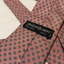 Yves Saint Laurent Pink Tie Silk Men's Ysl Photo