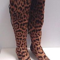 Yves Saint Laurent Pony Hair Leopard Print Boots. Size Us 7. Good Condition.   Photo
