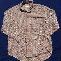 Yves Saint Laurent Pour Homme Long Sleeve Dress Shirt Size Medium Plaid Mens Photo