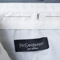 Yves Saint Laurent Pour Homme Pants Slacks Trousers Rayon Blend Pleated 38x32 Photo