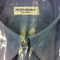 Yves Saint Laurent Pour Homme Premium Dress Shirt 15.5/39(made in Italy) Nib275 Photo