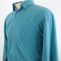 Yves Saint Laurent Pour Homme Ysl Rayon Poly France Checks L/s Mens Shirt Medium Photo