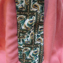 Yves Saint Laurent Pure Silk Tie Made in Italy Excellent Greens  Photo
