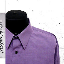 Yves Saint Laurent Purple Button Down Lon Gsleeve Collar Shirt 171/2 Xl Rsp300 Photo