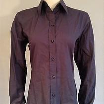 Yves Saint Laurent Purple Fitted Classic Button Down Shirt Fr38 6 8 Blouse Top Photo