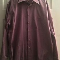 Yves Saint Laurent Purple/lavendar Plaid/check Mens Dress Shirt Large 16 34/35 Photo