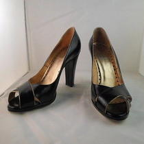Yves Saint Laurent - Rive Gauche Black/gold Heels - Sz 8.5-9 Photo