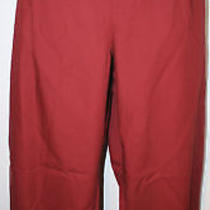 Yves Saint Laurent Rive Gauche Brick Ruby Red Cotton Pants Nwt 355 46 12 Photo