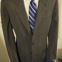 Yves Saint Laurent Rive Gauche Size 42r Gray 2 Button Sportcoat Photo