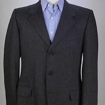 Yves Saint Laurent Rive Gauche Tom Ford Charcoal Flannel Wool 3-Btn Blazer 42r Photo