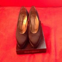 Yves Saint Laurent Satin Pumps Size 7.5 to 8 M Perfect Like New Photo
