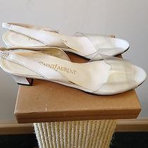 Yves Saint Laurent See Through Sandals Heels 5.5 M Photo