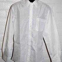 Yves Saint Laurent Shirt 15 1/2 White Long Sleeve Button Front Photo