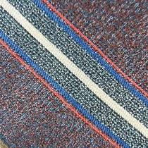 Yves Saint Laurent Sienna Blue Red Khaki Beautiful Stripe Silk Necktie Tie Mm25 Photo