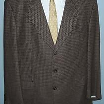 Yves Saint Laurent Silk Blend Three Button  Houndstooth Blazer Sport Coat 48 R Photo