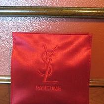 Yves Saint Laurent So Sexy..red Shiny Satin Trousse/makeup Cosmetic Parfums Bag Photo