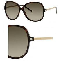 Yves Saint Laurent Sunglasses Sl 23/s 08q2 Havana 58mm Photo