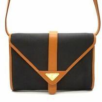 Yves Saint Laurent Vintage 2way Shoulder Clutch Bag Ysl Logo Second Pvc Black Photo