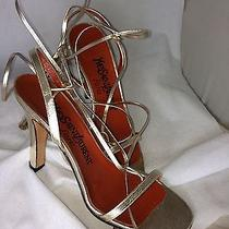 Yves Saint Laurent Vintage Gold High Heel Sandal 6 1/2 Rare Sexy Luxe Italian Photo