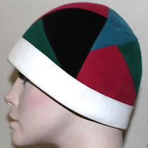Yves Saint Laurent Vintage Mod Patchwork Hat  Mid Century Photo