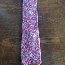 Yves Saint Laurent- Vintage Paisley Red Tie Unique Rare Designer Ysl  Photo