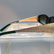 Yves Saint Laurent Vintage Sunglasses Green With Gold Metal Authentic 6082/s Photo