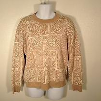 Yves Saint Laurent Vtg Rive Gauche Brown Sweater Fashion French Rare Men Sz 52/l Photo