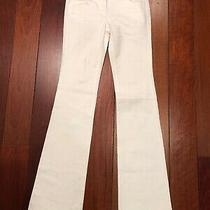 Yves Saint Laurent White Bell Bottom Jeans Size 38 Fr (Us 6) Photo