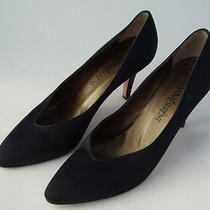 Yves Saint Laurent Womens Shoes Black Heels Pointed Tip Toes Size 8n Fashion Photo