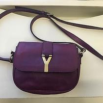 Yves Saint Laurent Y Mini Pochette Side Shoulder Bag in Purple 100% Authentic Photo