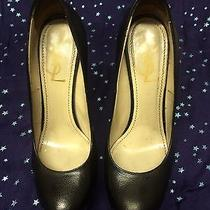 Yves Saint Laurent Ysl 515 Tribute Two Black Textured Leather Pumps Heels 38.5 Photo