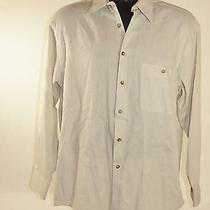 Yves Saint Laurent Ysl Beige Long Sleeve Dress Shirt Mens M Medium 15  32-33 Photo